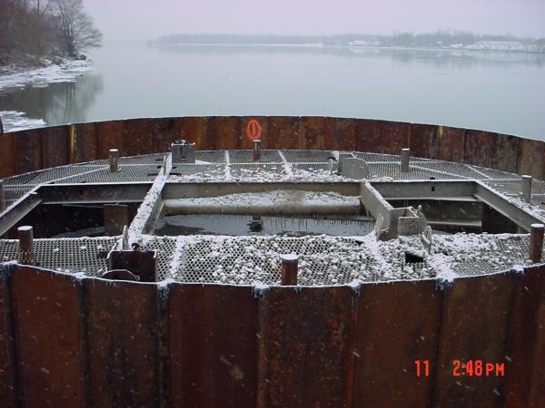 Niagara River Breasting Cell Waterfront Bulkhead