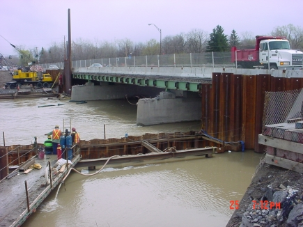 Route 252 over Genesee River Shoring