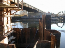 East Robinson Street Bridge Shoring